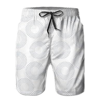 f57c093cc25 3D Print Dotted Rings Fabric (5249) Shorts Fast Dry Beach Board Shorts  Men's Swim Trunks | Amazon.com