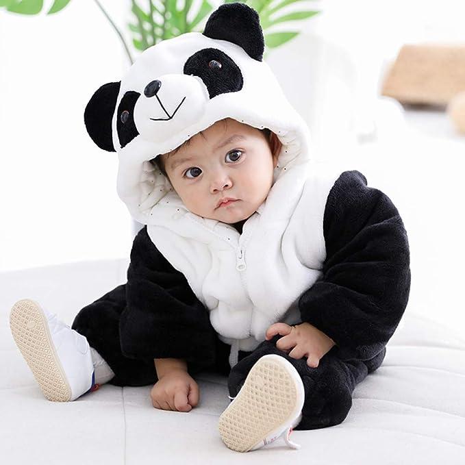 ca0ae2080a3e9 KRAFBEAN Animal Cosplay Panda Bébé pour Halloween Déguisement Carnaval Combi -pilote Fille Garçon Kigurumi Onesie Surpyjama de Nuit en Flanelle Chaud ...