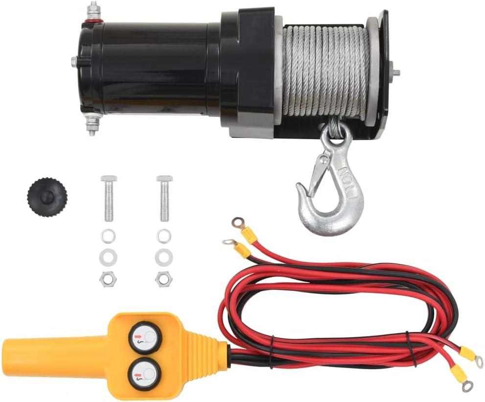 yorten Cabrestante Eléctrico con Mando a Distancia para Recuperación de Vehículos 12 V 907 kg 285 x 105 x 105 mm