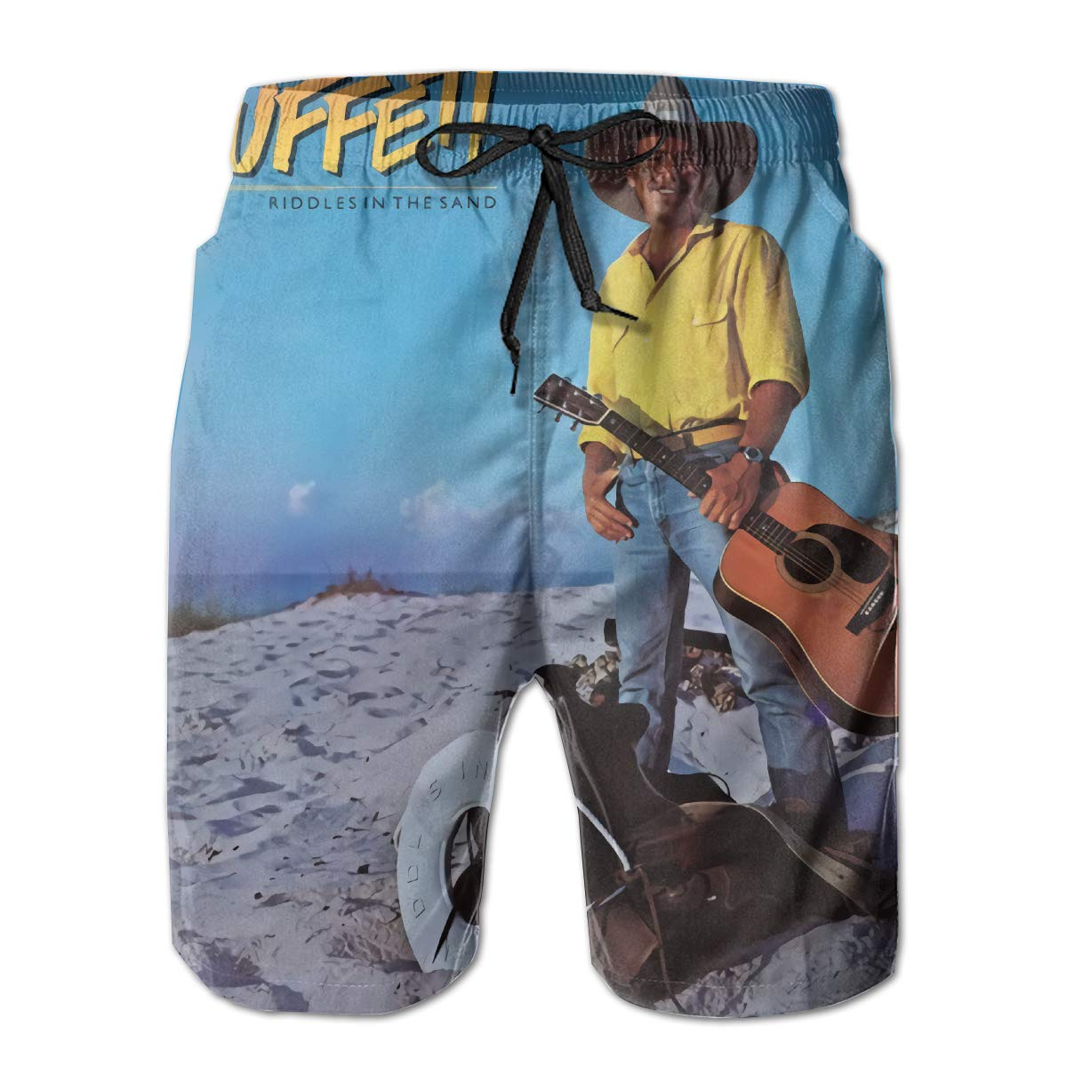 Jimmy Buffet Riddles in The Sand Man Summer Beach Shorts Surfing Pants
