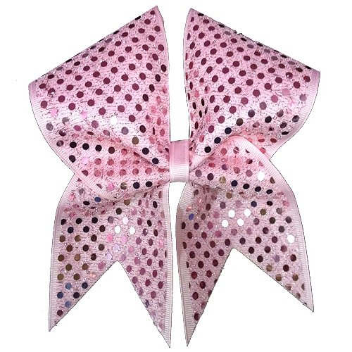 Pink Ribbon Sparkler Cheer Bow