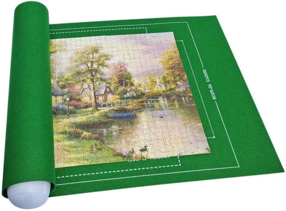 Jigsaw Puzzle Roll Mat Environmental Friendly Material for Jigsaw Puzzle Player Puzzle Storage Puzzle Saver Jigroll Up to 2,000 Pieces Store Jigsaw Puzzles