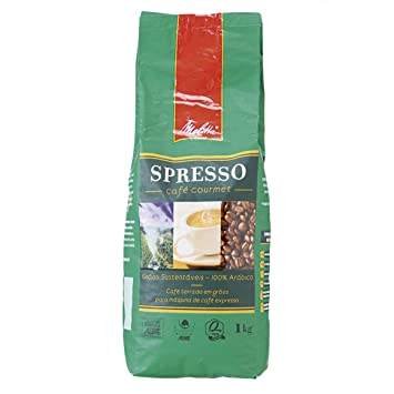 Melitta Spresso Roasted Gourmet Coffee Beans 1KG - Imported from Brazil -