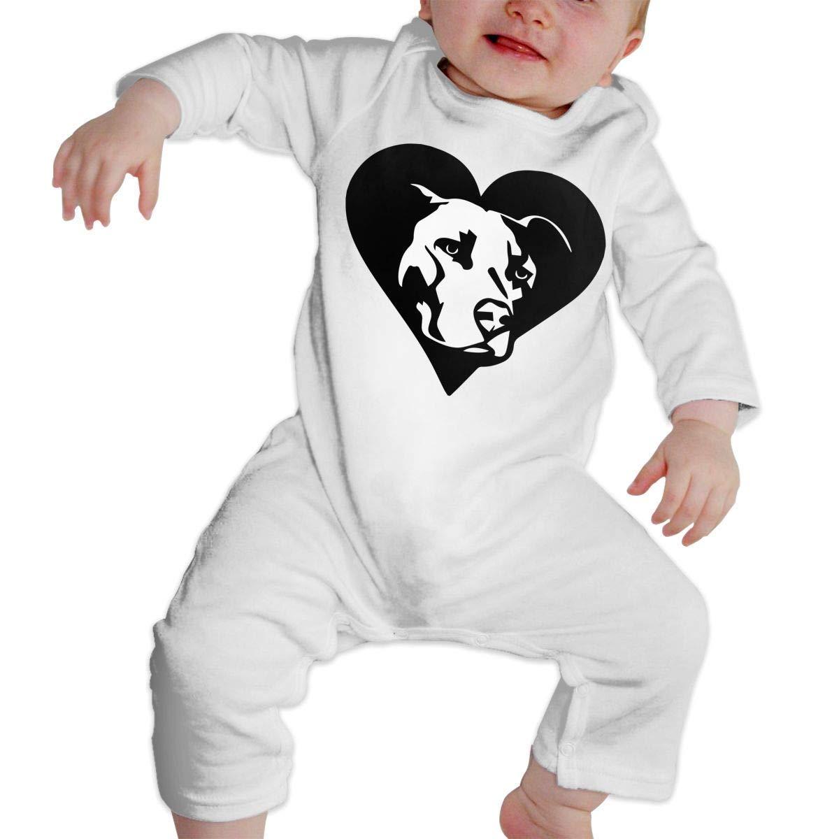 TYLER DEAN Baby Boy Jumpsuit Pitbull Heart2 Infant Long Sleeve Romper Jumpsuit