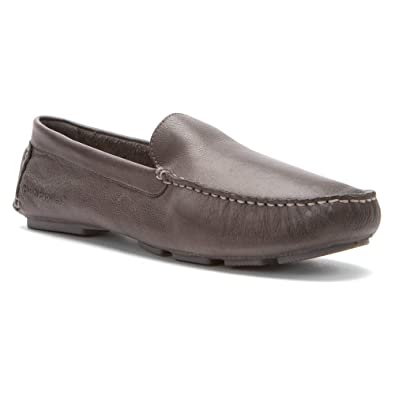 Hush Puppies Men's Monaco Slip On Mocc Toe,Grey Leather,US 10.5 M