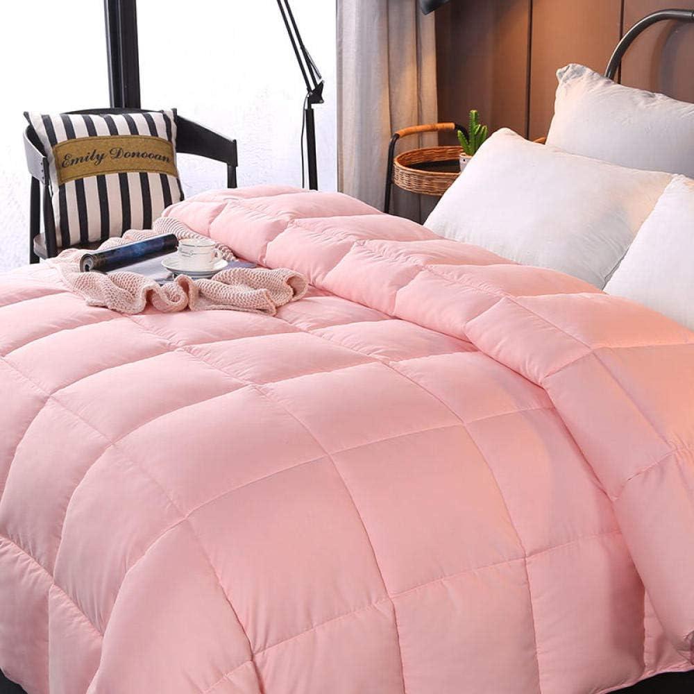Almondcy Laminas Estilo nordico,Espesar 95 Suministros de algodón de Color sólido cálido edredón de Hotel% Cama de Ganso Blanco núcleo Suave cama-150 * 200cm 3000g_Azul Real: Amazon.es: Hogar