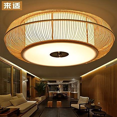 SDKKY Lámpara de bambú Coreano tatami de estilo japonés ...