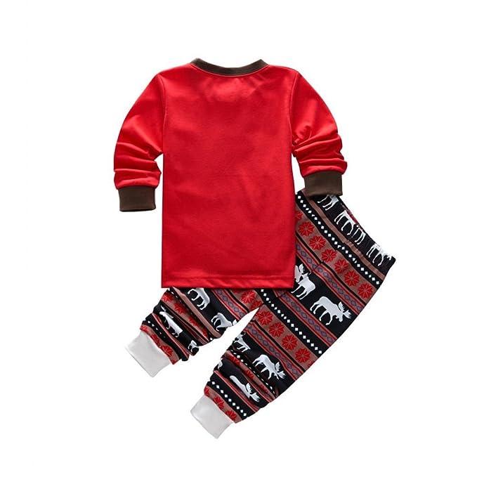 ff88c70569fe9 Ensemble Pyjama Noel Famille Père Noël Mère Garçon Fille du Nouveau-né Bébé  Pyjamas à Deux Pièces Set Pull-Over à Manches Longues Top et Pantalon  Sleepwear ...