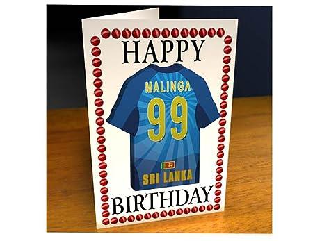 Amazon sri lanka international cricket personalised sri lanka international cricket personalised greetings card inc removable shirt shaped magnet m4hsunfo