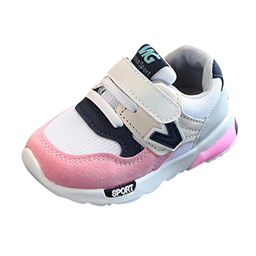 f8e25f1329539 Amazon.com: LNGRY Shoes,Toddler Kids Baby Girls Boys Letter Mesh ...