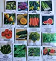 David's Garden Seeds Vegetable Garden Seed Collection P974HH (Multi) 3,500 plus Seeds (Open Pollinated, Heirloom, Organic)