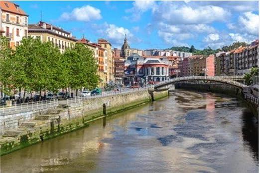 ZZXSY Puzzles Educa 1000 Piezas Casco Antiguo De Bilbao País Vasco España Adecuado: Amazon.es: Hogar