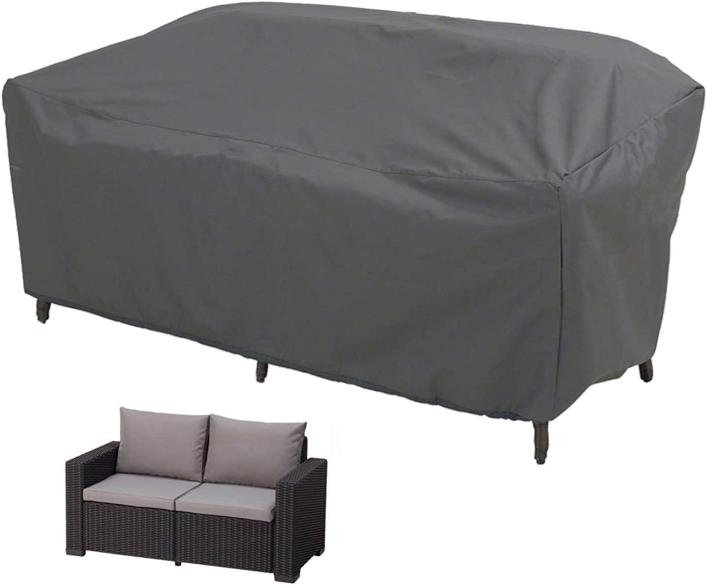Grigio /Durevole e impermeabile rivestimento mobili Outdoor impermeabile protezione contro vento protezione UV Alta qualit/à tavolo da giardino Poltrona Lounge//Club Chair Cover/