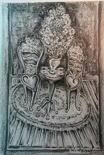 TEA FOR TWO ORIGINAL SKETCH BY ARTIST WILLIAM HOLMAN by ARTIST WILLIAM HOLMAN