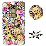 STENES LG Aristo 2 Case - STYLISH - 100+ Bling - 3D Handmade Eiffel Tower Bear Rose Flowers Design Protective Case For LG Aristo 2 - Colorful