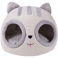 BMTLFG Kosz dla zwierząt domowych, ciepły, półzamknięty, wewnętrzny karmnik dla kotów i psów, składany, pluszowy, na…