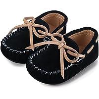 Mocasines Niño y Niña Zapatos Cuero de Gamuza