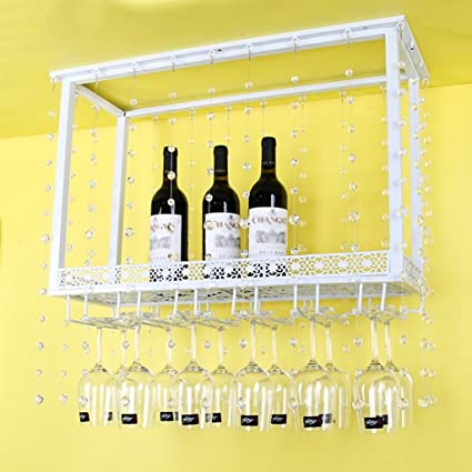 Estantería de vino TH Barra de Vino Europea Living Room Bottle Rack Suspension Rack de Vidrio