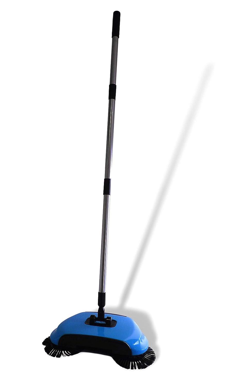 blau UrbanDesign Kehrger/ät Kerhbesen Teppichroller Bodenreiniger Besen Feger Sweeper Teppichkehrer ohne Strom