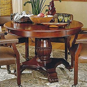 Steve Silver Tournament 48 Wood Round Casual Dining Table In Cherry Finish