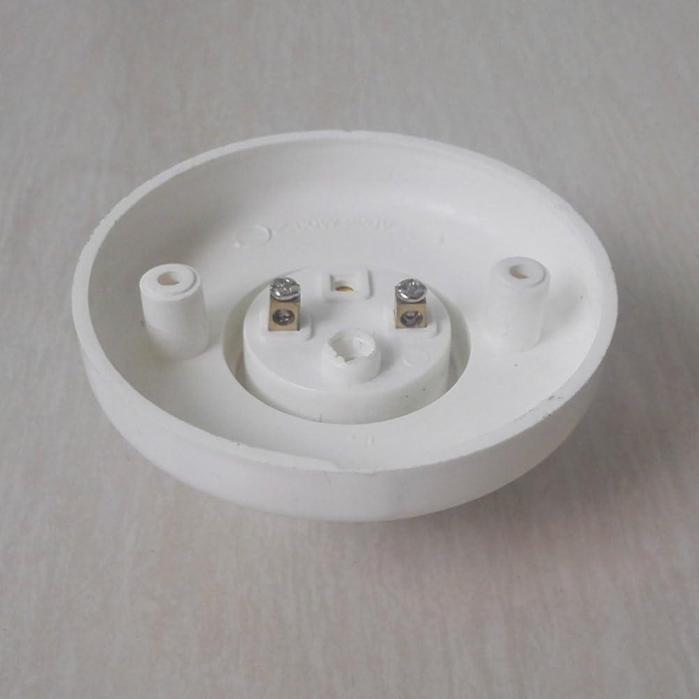 PURATEN E27 Lot de 2 Supports pour Ampoule E27 Douille /à vis Ronde en Plastique E27 Culot /à vis en Plastique