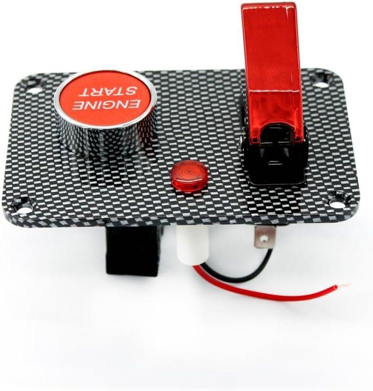 B Baosity 12V-24V Flip-up Z/ündschloss Schalter Switch Panel Startknopf DIY Autozubeh/ör Modifikation Schalter f/ür Racing Sport