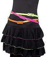Smiffys Neon 80s Fancy Dress Belts