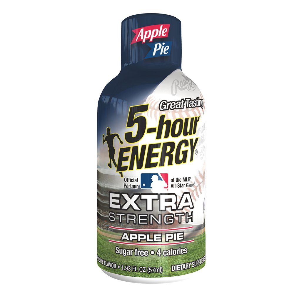 Extra Strength 5-hour ENERGY Shots – Apple Pie Flavor – 12 Count