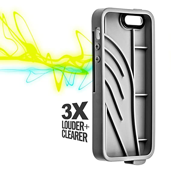 63773498fc0 Image Unavailable. Image not available for. Color  Vaas Boost Protective  Case w Sound Amplifying for Apple iPhone 5   5S   SE