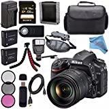 Nikon D750 DSLR Camera w/ 24-120mm Lens 1549 + 77mm 3 Piece Filter Kit + EN-EL15 Lithium Ion Battery + External Rapid Charger + Sony 128GB SDXC Card + Universal Slave Flash unit Bundle