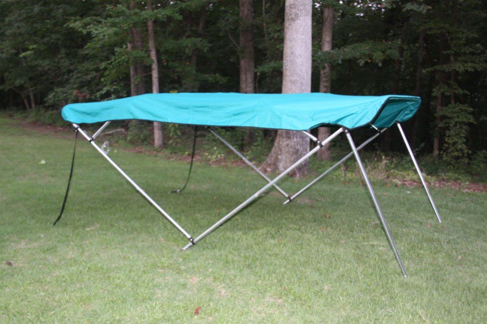 New TEAL Pontoon / Deck Boat Vortex 4 Bow Bimini Top 8' Long, 91-96'' Wide, 54'' High, Complete Kit, Frame, Canopy, and Hardware (FAST SHIPPING - 1 TO 4 BUSINESS DAY DELIVERY) by Vortex