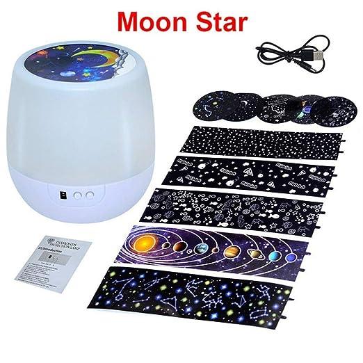 Luces de noche Proyector de cielo estrellado colorido Rotación de ...