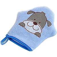 XuBa - Esponja de algodón ultrasuave para baño de bebé, diseño de perro azul