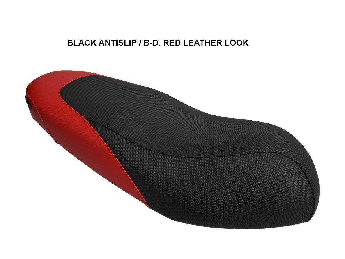 Funda de Asiento para Aprilia SR Motard 125 Negro-Rojo
