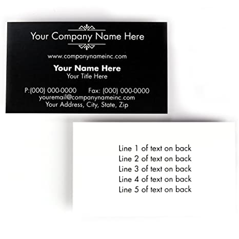 Organic Double Sided Business Cards Set Of 250 2 X 3 12 Custom