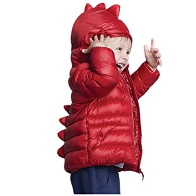 d3d2ac80c VIGVOG Girl s Boy s Cute Little Dinosaur Down Coat Urltra-Light ...