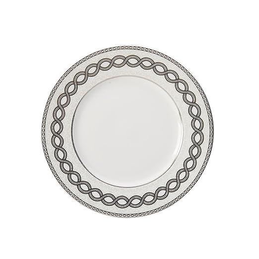 Mikasa Valencia platos de ensalada - white|gray: Amazon.es: Hogar