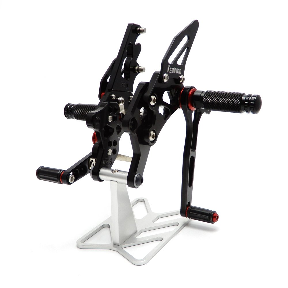 KEMIMOTO R3 Rearsets Adjustable Rear Sets for Yamaha YZF-R3 YZF-R25 2014 2015 2016 2017 VicsaWin