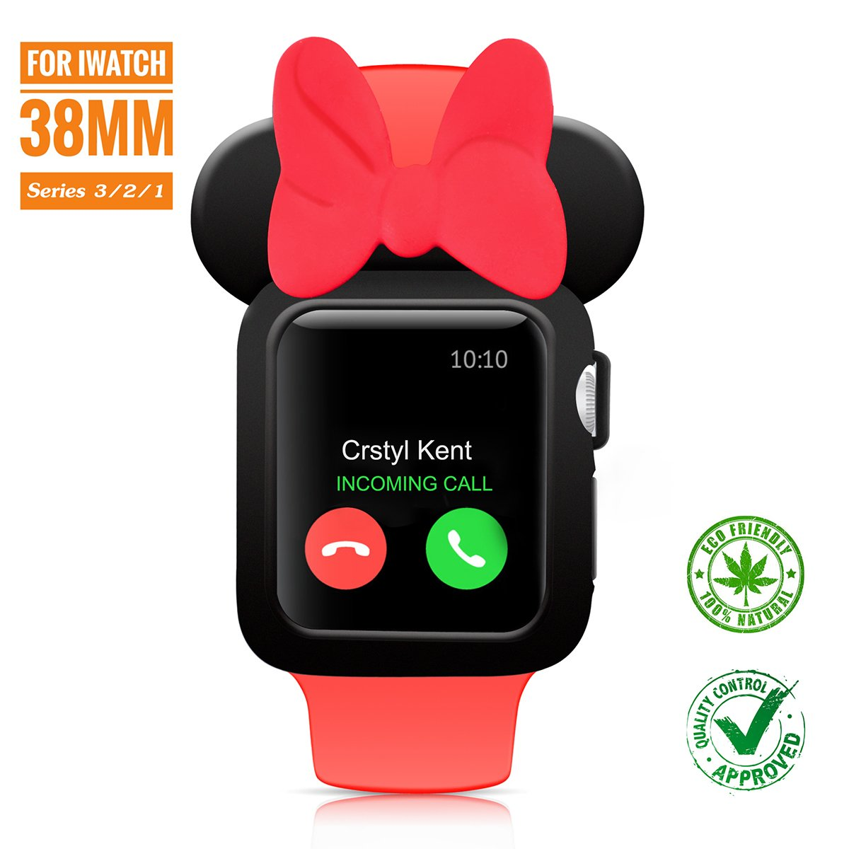 big sale 38a6b 67ff3 SPCEUTOH iWatch Case Series 3/2/1 For Apple Watch 38mm Nike+,Sport,Edition  All Models ,Cartoon Mouse Ears Rugged Protective Slim Shock Resistant TPU  ...