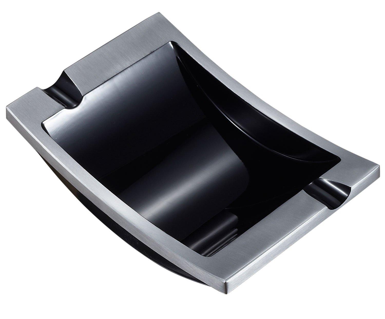 Visol Mesa gebürstet Metall Zigarre Aschenbecher, VASH411, Silber