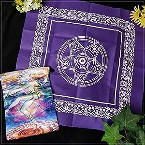 Pentacle Tarot Tablecloth & Shiva Bag Set | Conjunto de Sacolinha e Toalha de Pentagram para Tarô
