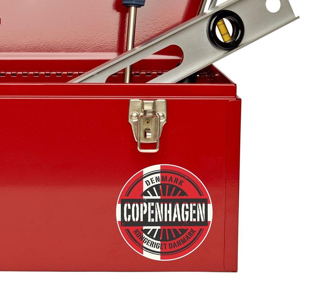 2 x 10 cm de Copenhague Dinamarca Bandera pegatina de vinilo Portátil Coche Equipaje De Viaje # 6726
