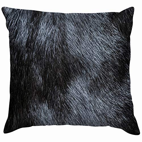 Fur Beauty Fashion Funny Square Throw Pillow Cases Cushion Cover for Bedroom Living Room Decorative 24X24 Inch