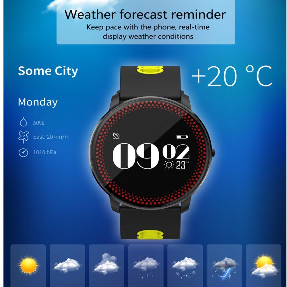 Tech Código Smart banda relojes Tensiómetro Pulsómetro IP67 ...