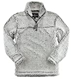 J. America Premium Plush Women's Epic Sherpa Quarter Zip (Snowy Grey-Medium)