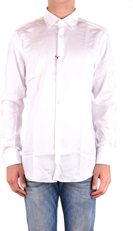 Hugo Boss Luxury Fashion Hombre MCBI34532 Blanco Camisa   Temporada Outlet: Amazon.es: Ropa y accesorios