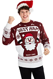 01b5520d82b New Mens Womens Santa Xmas Christmas Football Novelty Jumper Sweater
