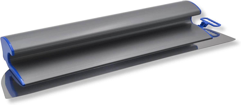 Breite 400mm DEWEPRO/® Fl/ächenspachtel mit handlichem Griff und austauschbarem Edelstahlblatt 0,3mm