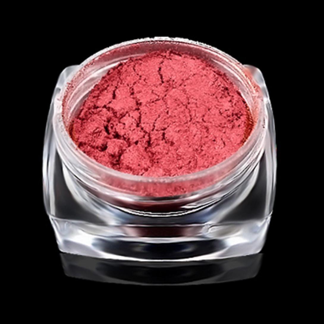 Kemilove 2g/Box Gold Sliver Nail Glitter Powder Shinning Nail Mirror Powder (Rose Gold) by Kemilove (Image #2)