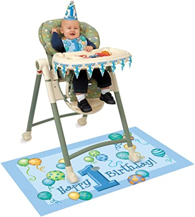 Unique Party 72480 - Blue Balloons 1st Birthday High Chair Decorating Kit